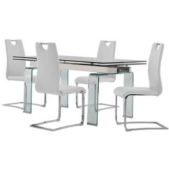 Millie/Josseline White 5-Piece Dining Set