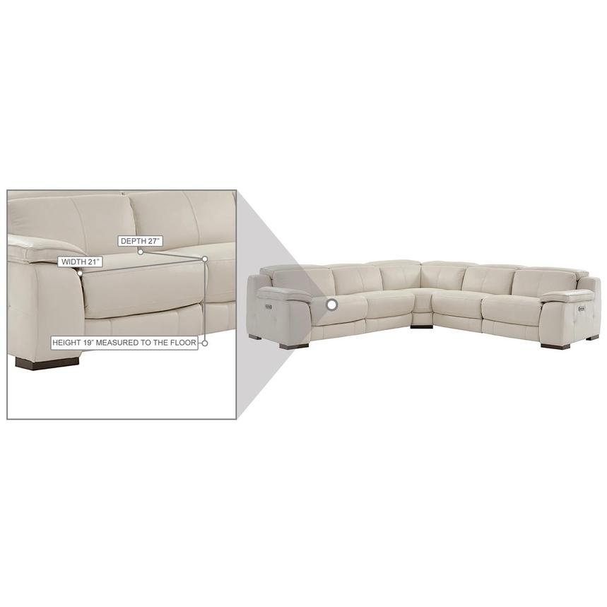 Gian Marco Cream Leather Power Reclining Sectional  alternate image, 8 of 8 images.