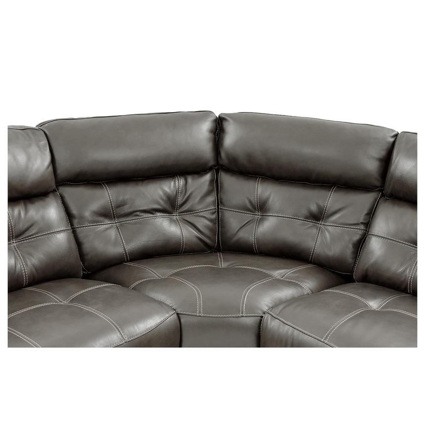 Stallion Gray Power Motion Leather Sofa w/Right & Left Recliners  alternate image, 4 of 10 images.