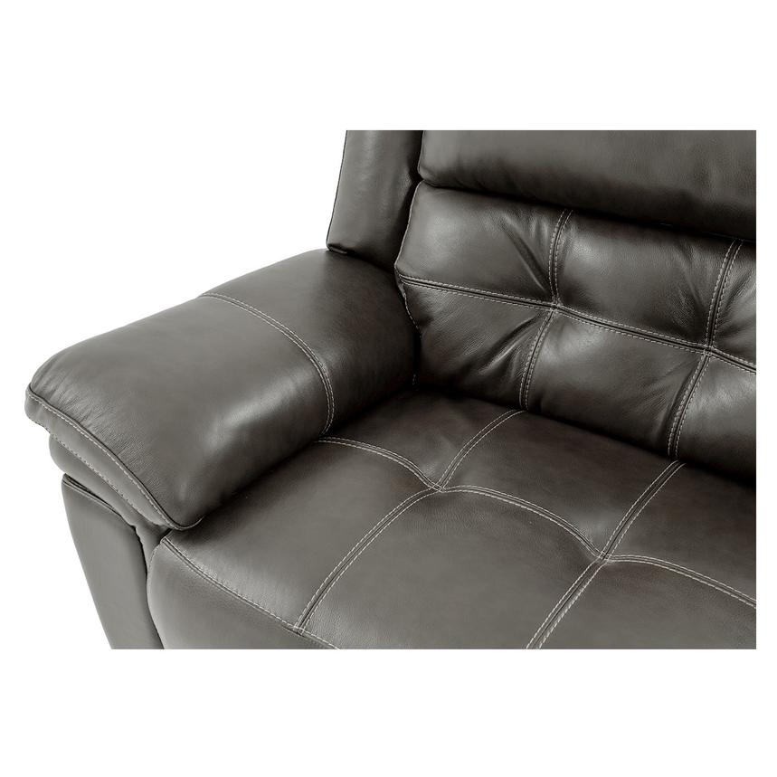 Stallion Gray Power Motion Leather Sofa w/Right & Left Recliners  alternate image, 9 of 10 images.