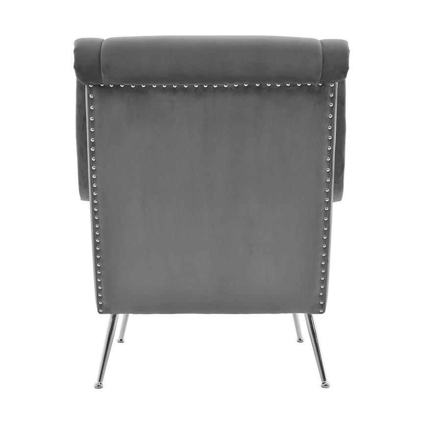 Morgan Gray Accent Chair  alternate image, 4 of 6 images.