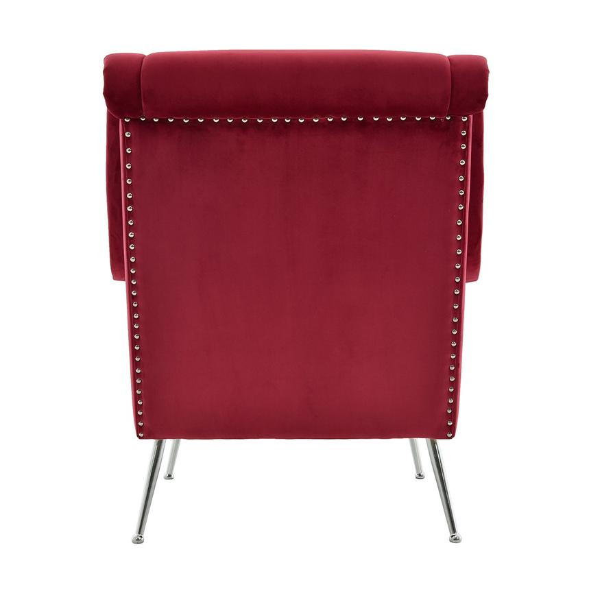 Morgan Red Accent Chair  alternate image, 4 of 6 images.