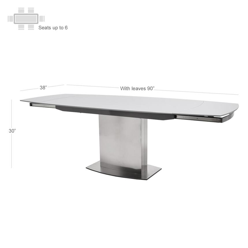 Mavis Extendable Dining Table  alternate image, 3 of 6 images.