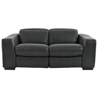 Jay Dark Gray Power Motion Leather Loveseat