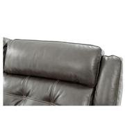 Stallion Gray Leather Power Reclining Loveseat  alternate image, 7 of 10 images.