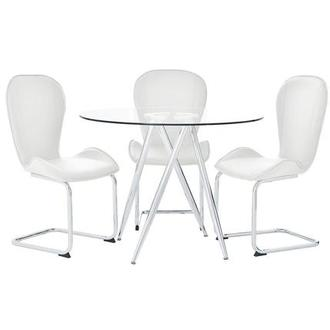 Latika White 4-Piece Casual Dining Set