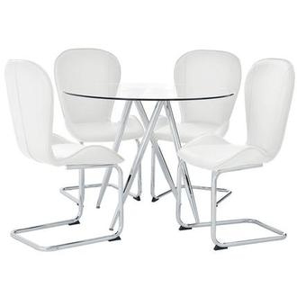 Latika White 5-Piece Casual Dining Set