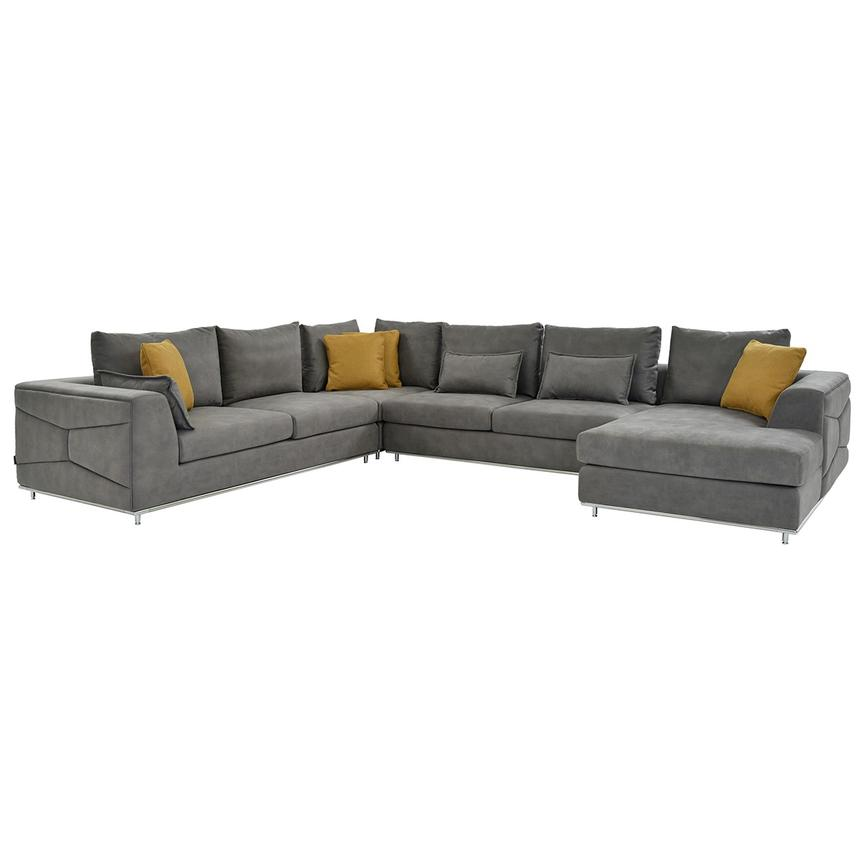 Grigio Sectional Sofa W Right Chaise