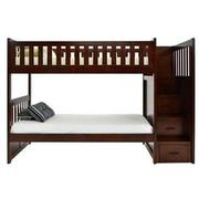Balto Brown Twin Over Twin Bunk Bed w/Storage  main image, 1 of 7 images.