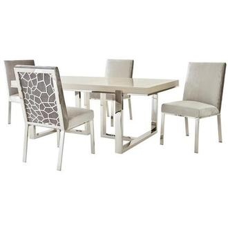 Cydney/Wellington Gray 5-Piece Dining Set