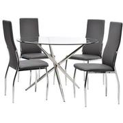 Patricia/Luna Gray 5-Piece Casual Dining Set  main image, 1 of 8 images.