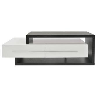 Avanti Dark Oak/White Coffee Table w/Casters