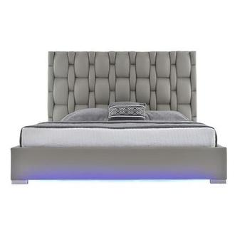 Livia Gray King Platform Bed