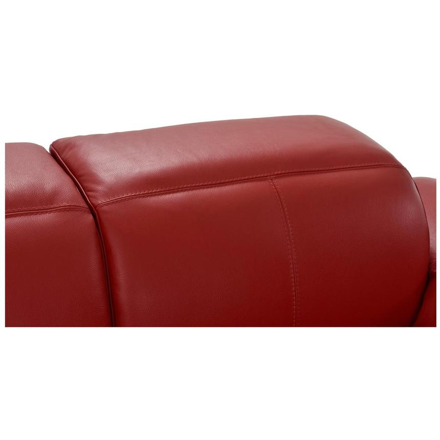 Toronto Red Leather Power Reclining Sofa w/Left Chaise  alternate image, 9 of 13 images.