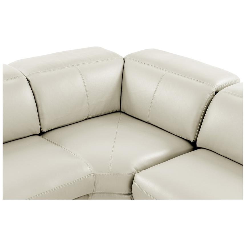 Toronto White Power Motion Leather Sofa w/Left Chaise  alternate image, 4 of 11 images.