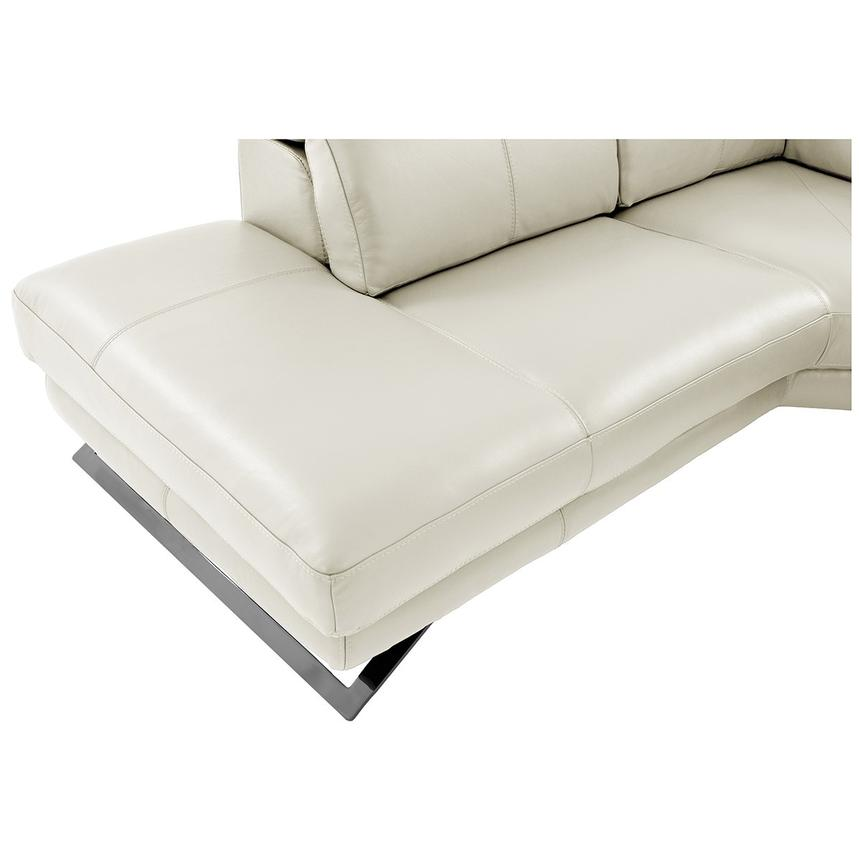 Toronto White Power Motion Leather Sofa w/Left Chaise  alternate image, 9 of 11 images.