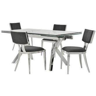Lynne Clear/Martina II 5-Piece Formal Dining Set