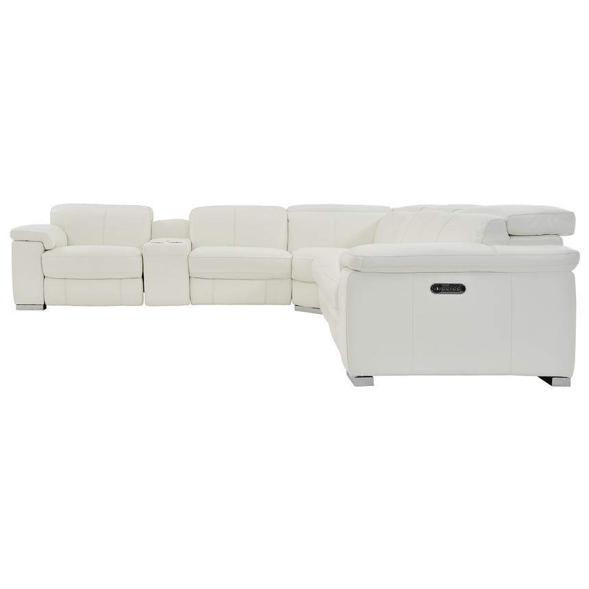 Charlie White Power Motion Leather Sofa w/Right & Left Recliners  alternate image, 3 of 9 images.