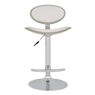 Noe White Adjustable Stool