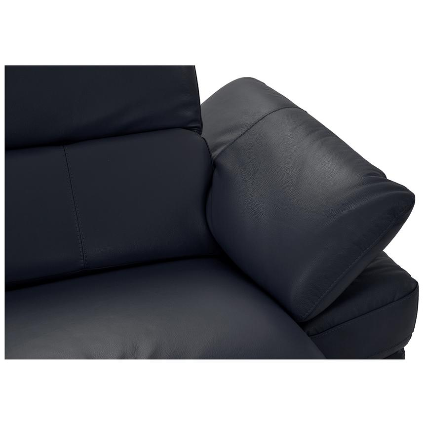 Toronto Dark Gray Power Motion Leather Sofa w/Left Chaise  alternate image, 8 of 9 images.