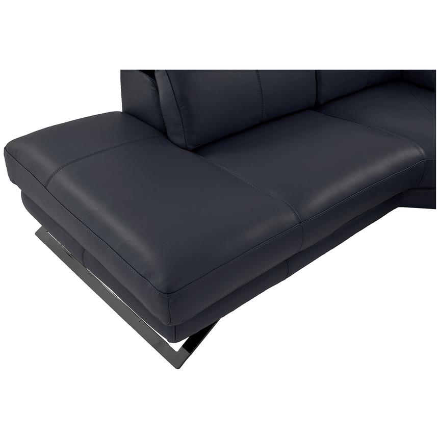 Toronto Dark Gray Power Motion Leather Sofa w/Left Chaise  alternate image, 9 of 9 images.