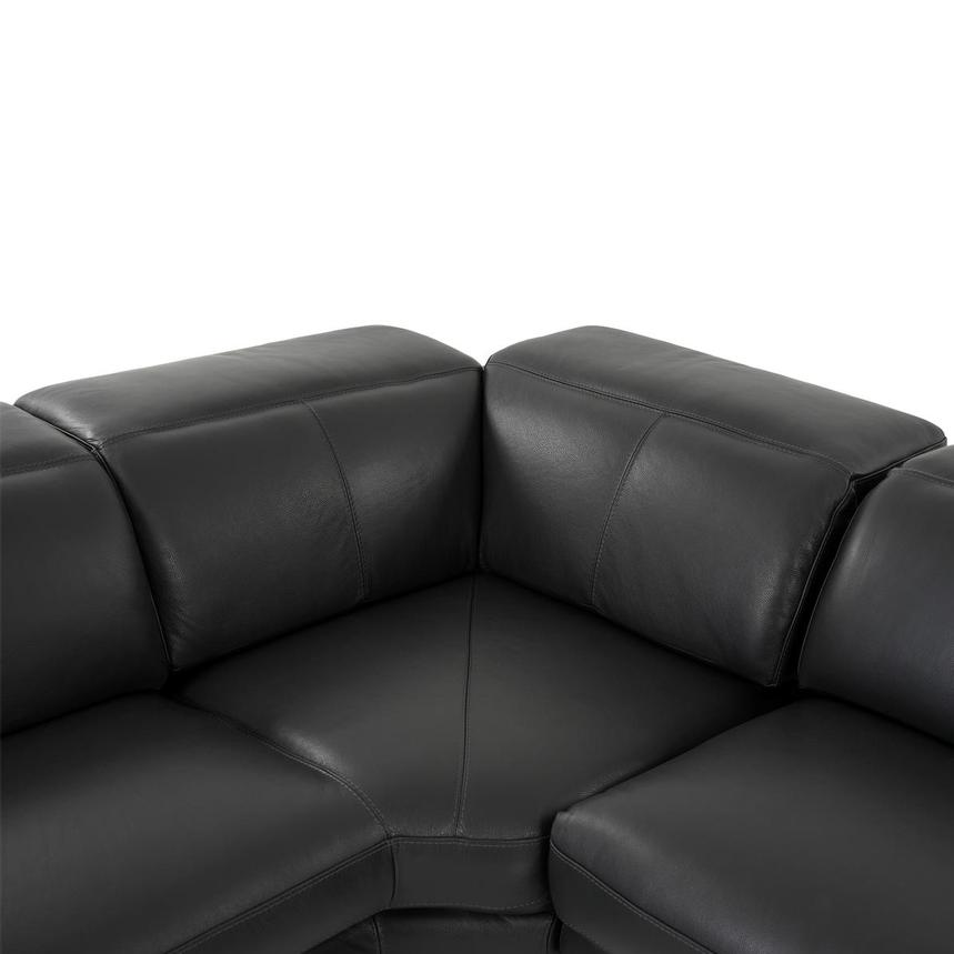 Toronto Dark Gray Leather Power Reclining Sofa w/Left Chaise  alternate image, 8 of 10 images.