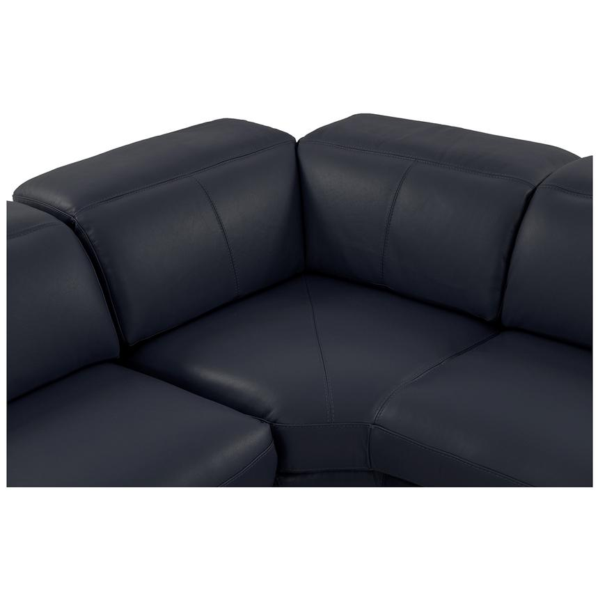 Toronto Dark Gray Power Motion Leather Sofa w/Right Chaise  alternate image, 4 of 9 images.