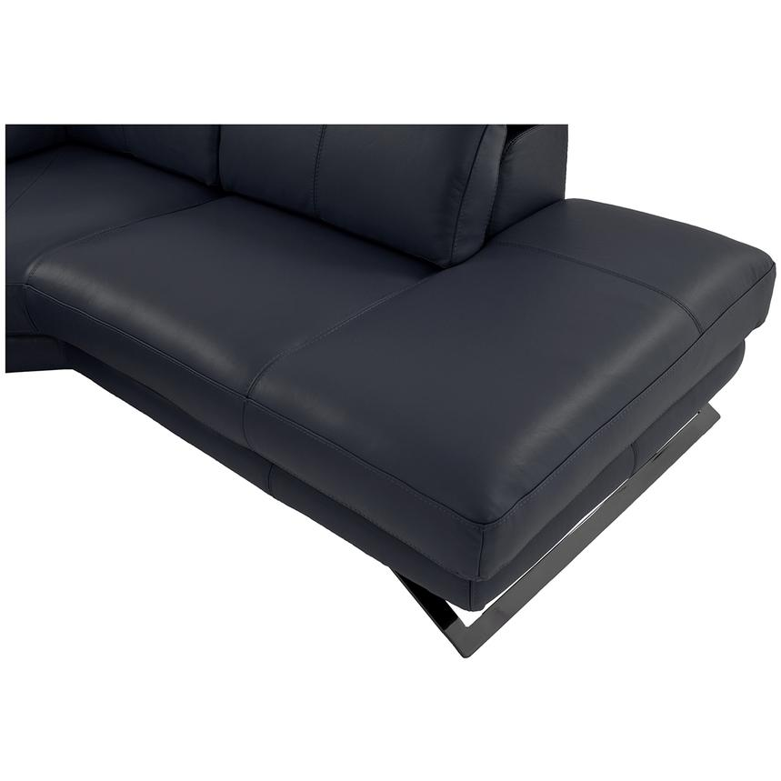 Toronto Dark Gray Power Motion Leather Sofa w/Right Chaise  alternate image, 9 of 9 images.