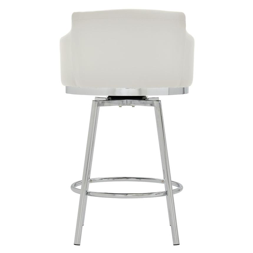 Dusty White Swivel Counter Stool  alternate image, 4 of 6 images.