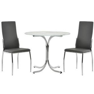Luna Gray Side Chair El Dorado Furniture