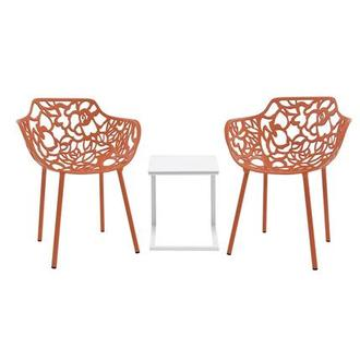 Mykonos/Rosie Orange 3-Piece Patio Set