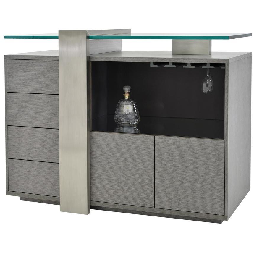 Totem gray bar cabinet el dorado furniture for Cabine el dorado
