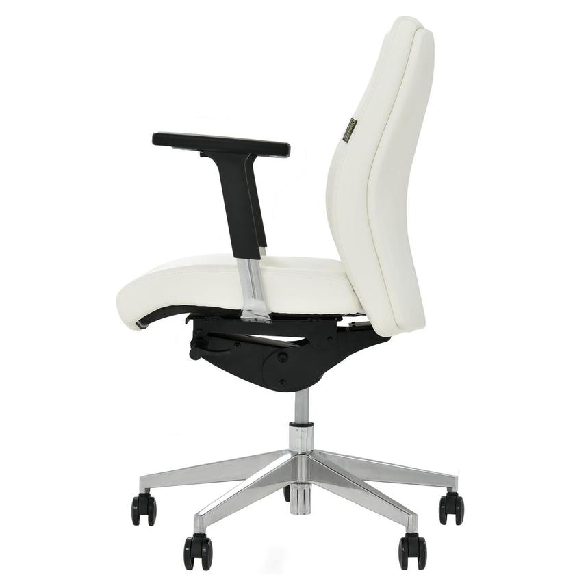 Regulo White Low Back Desk Chair  alternate image, 3 of 7 images.