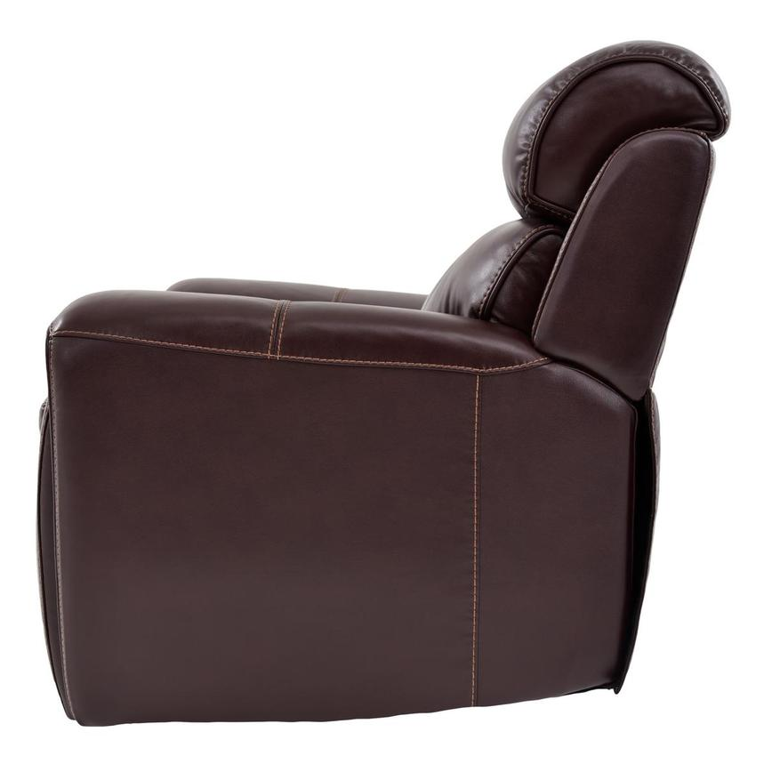 Napa Burgundy Leather Power Recliner  alternate image, 4 of 9 images.