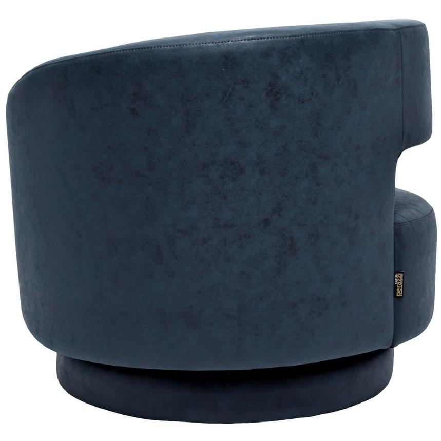 Okru Dark Blue Swivel Chair  alternate image, 4 of 6 images.