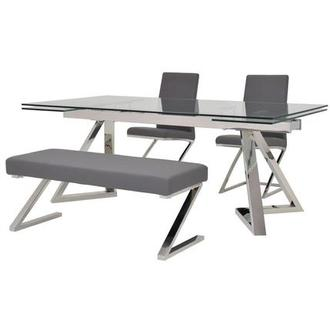 Suri/Jade Gray 4-Piece Dining Set
