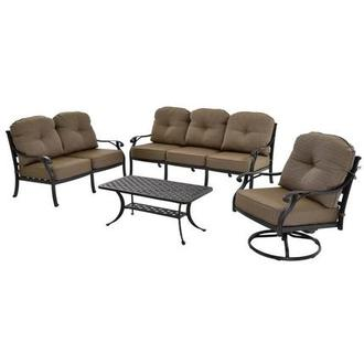 Castle Rock Brown 4-Piece Patio Set