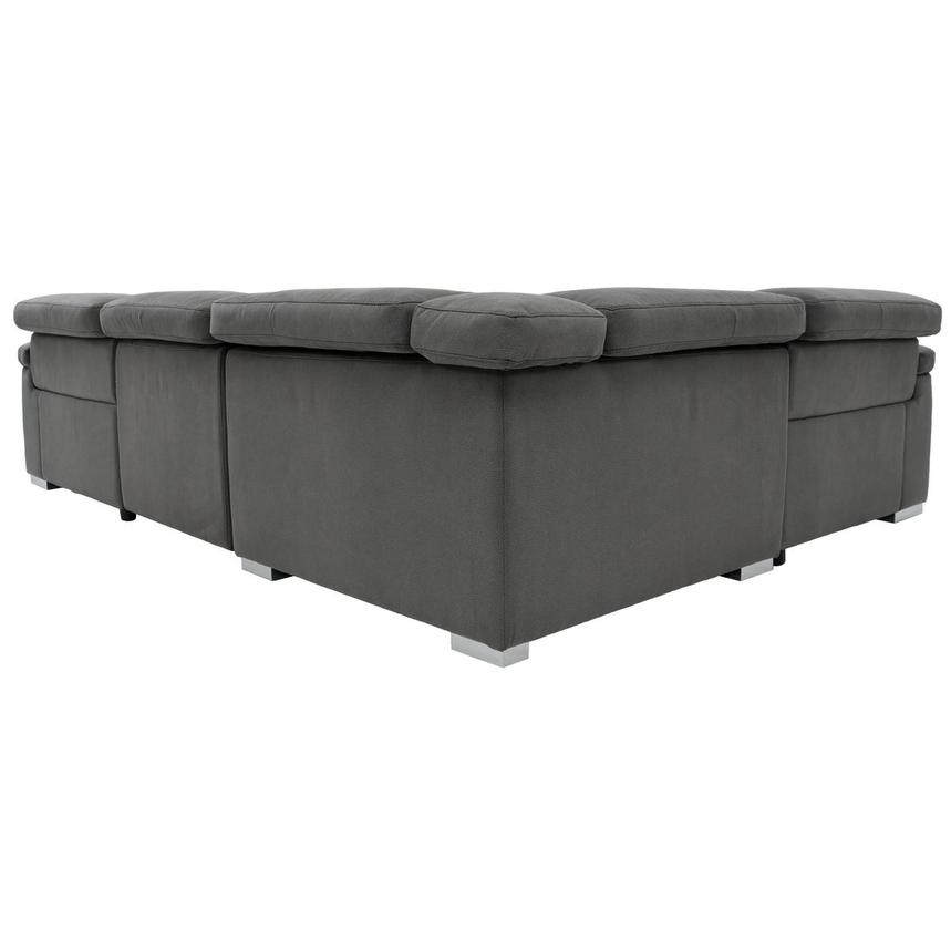 Karly Dark Gray Power Motion Sofa w/Right & Left Recliners  alternate image, 4 of 7 images.
