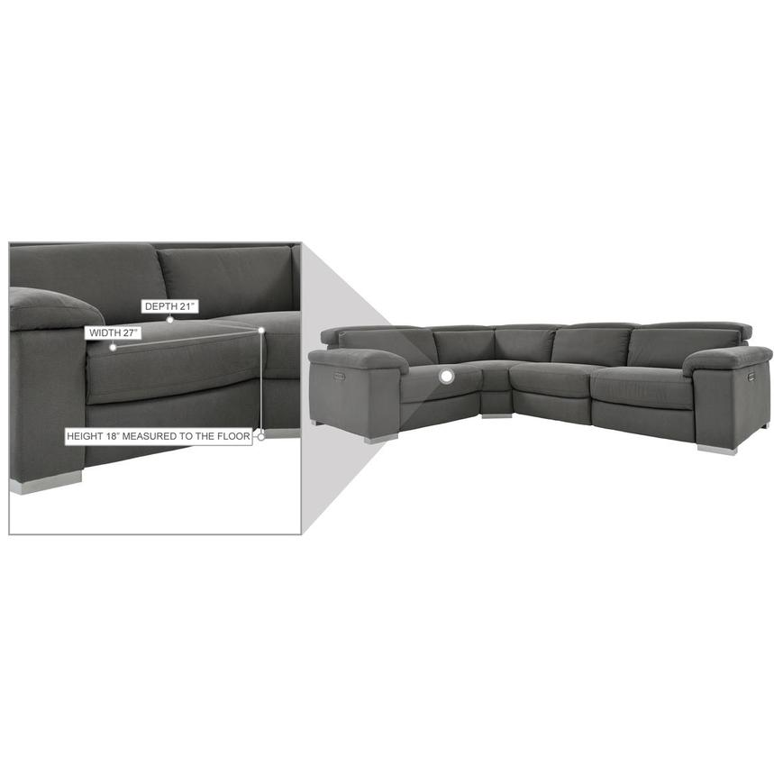 Karly Dark Gray Power Reclining Sectional  alternate image, 8 of 8 images.