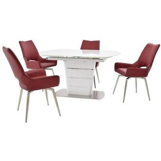 Santal/Kalia Red 5-Piece Formal Dining Set