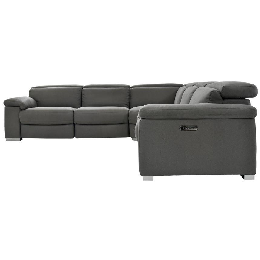 Karly Dark Gray Power Motion Sofa w/Right & Left Recliners  alternate image, 3 of 7 images.