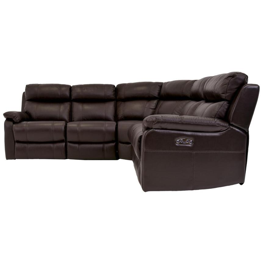 Ronald 2.0 Brown Leather Power Reclining Sectional  alternate image, 3 of 6 images.