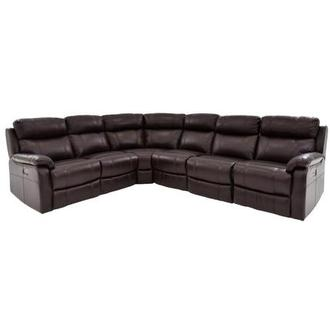 Ronald 2.0 Brown Leather Power Reclining Sectional