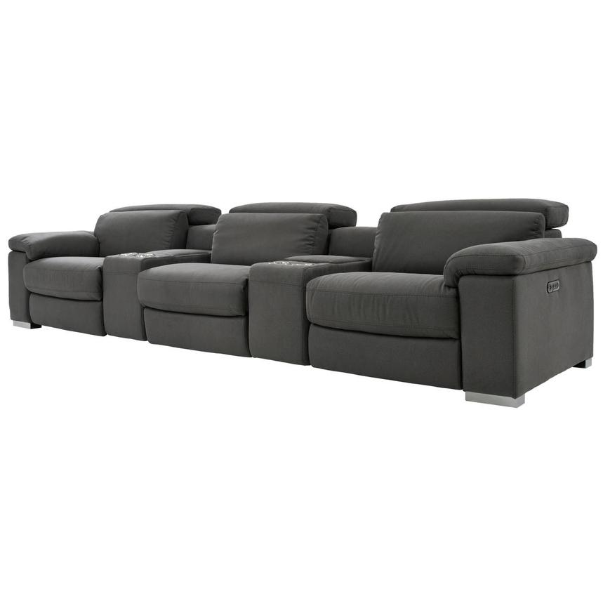 Karly Dark Gray Home Theater Seating  alternate image, 2 of 10 images.