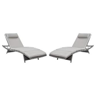 Stacy Gray Chaise Lounge Set of 2