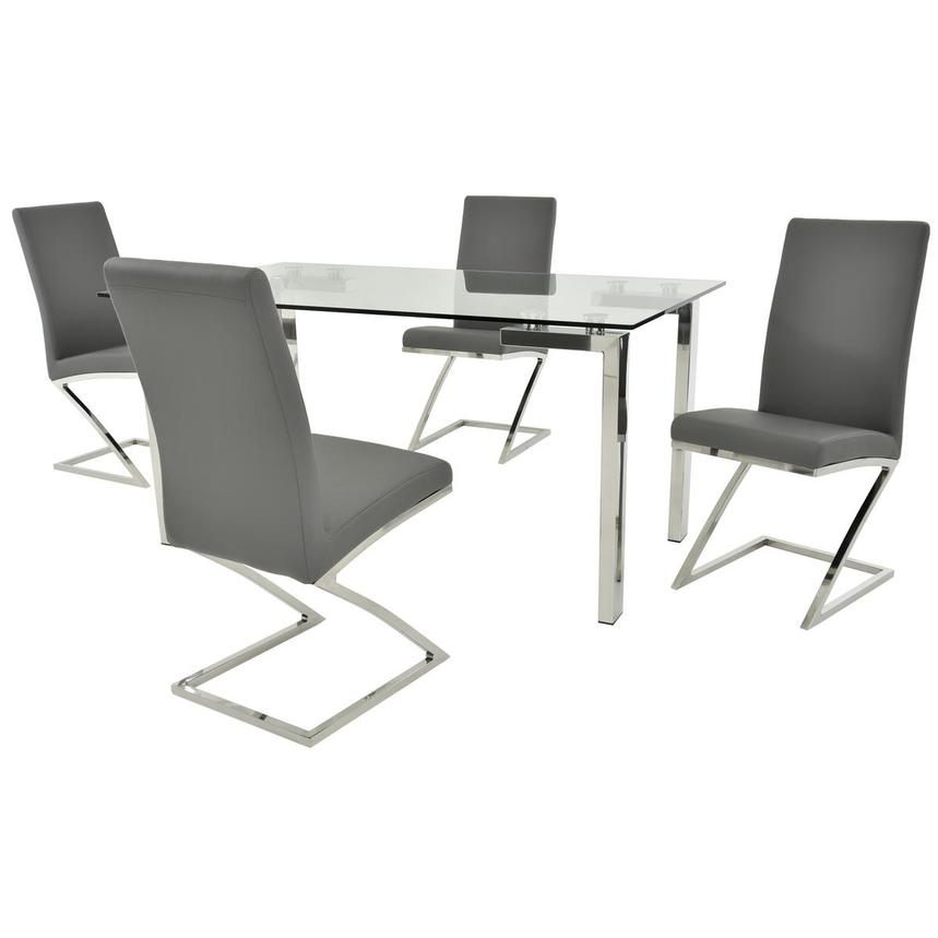 Julli/Jade Gray 5-Piece Dining Set  main image, 1 of 11 images.