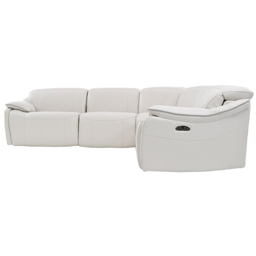 Austin White Leather Power Reclining Sectional  alternate image, 3 of 7 images.