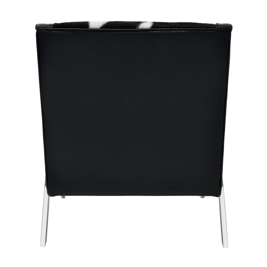 Krava Black Leather Accent Chair  alternate image, 4 of 5 images.