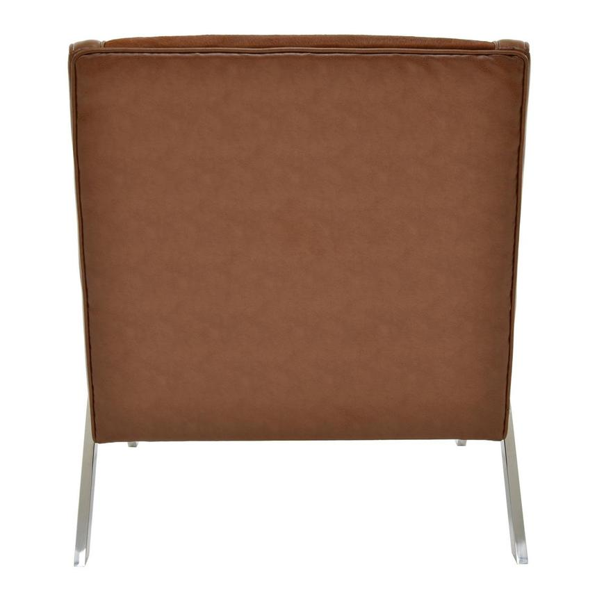 Krava Brown Leather Accent Chair  alternate image, 4 of 5 images.