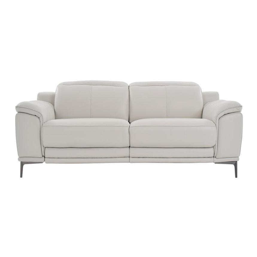 Katherine Gray Leather Power Reclining Loveseat  main image, 1 of 9 images.